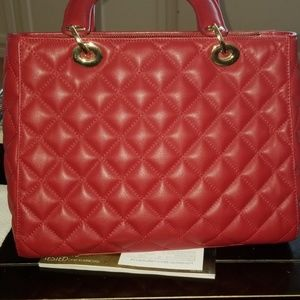 St. John Bags - St John red leather tote